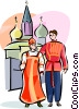 Vector Clipart graphic  of a Russian national costumes