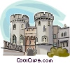 United Kingdom Windsor Castle Vector Clipart illustration