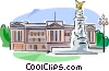 United Kingdom Buckingham Palace Vector Clip Art image