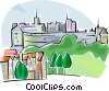 Vector Clipart image  of a United Kingdom Edinburgh