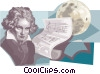 Vector Clipart image  of a Ludwig van Beethoven