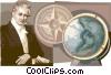 Alexander von Humboldt Universal scholar Vector Clipart picture