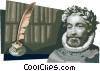 Vector Clip Art image  of a Luis Vaz de Camoes