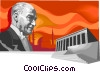 Vector Clip Art image  of an Ataturk  Founder of the