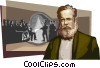 Vector Clip Art graphic  of a D. Pedro II