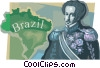 D. Pedro I, 1st Emperor of Brazil Vector Clipart illustration