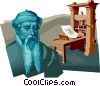 Vector Clip Art graphic  of a Johannes Gutenberg