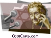 Vector Clip Art graphic  of a Golda Meir