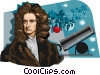 Sir Isaac Newton Vector Clipart graphic