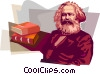Vector Clipart graphic  of a Karl Heinrich Marx