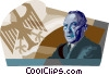 Vector Clipart picture  of a Konrad Adenauer