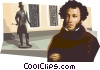 Vector Clip Art image  of an Aleksandr Sergeevich Pushkin