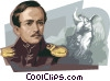 Mikhail Yurievich Lermontov Vector Clipart illustration