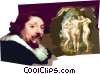 Vector Clip Art image  of a Peter Paul Rubens