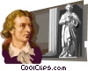 Vector Clip Art picture  of a Friedrich von Schiller