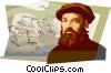 Ferdinand Magellan Vector Clipart image