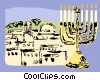 City of Jerusalem and menorah Vector Clip Art graphic