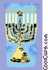 Vector Clipart image  of a Jewish Menorah