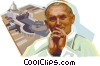 Vector Clipart graphic  of a Pope John Paul II