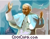 Pope John Paul II Vector Clip Art graphic