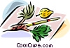 Sukkot Arbaat Haminim Vector Clipart graphic