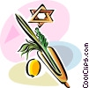 Vector Clipart illustration  of a Sukkot Arbaat Haminim