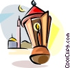 Vector Clip Art graphic  of a Ramadan lantern