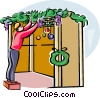 Vector Clipart illustration  of a Sukkot The Time of our Rejoicing