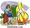 Lag Ba'Omer Fire party Vector Clipart illustration