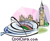 New Wembley Stadium Vector Clip Art graphic