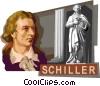 Vector Clip Art image  of a Friedrich von Schiller