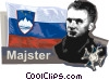 Vector Clipart graphic  of a J�zef Hoffman Majster