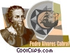 Pedro alvares Cabral Vector Clipart illustration