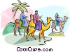 Vector Clip Art graphic  of a 3 wise men Epiphany