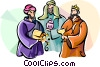 3 wise men Epiphany Vector Clipart picture