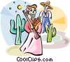 Vector Clip Art picture  of a D�a de Muertos