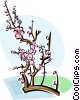 Vector Clipart illustration  of a Chinese plum blossom
