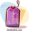 Vector Clipart graphic  of a Chinese good fortune luck in