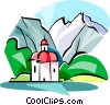 Vector Clip Art image  of a Watzmann Mountain