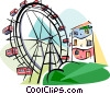 Vector Clip Art graphic  of a Vienna Ferris wheel Austria