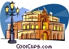 Vector Clip Art graphic  of a Germany Dresden Opera