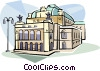 Vienna Opera houses Austria Vector Clipart graphic