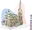 Vector Clipart graphic  of an Austria Vienna Stephansdom