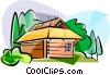 Vector Clipart illustration  of a Germany Nordic wooden house
