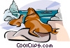 Vector Clip Art image  of a Germany Northern sea shore
