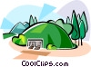 Korea Chonmachong tomb Vector Clipart graphic