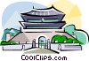 Korea The South Gate of Seoul Vector Clip Art image