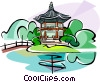 Korea Gyeongbok Palace Vector Clip Art graphic