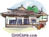 Korea Traditional Korean house Vector Clipart picture