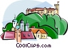 Vector Clipart graphic  of a Slovenia Ljubljana castle